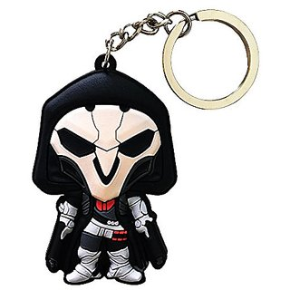 T-Queen Overwatch Personal Safety Cute Vinyl Rubber Keychain (Reaper)