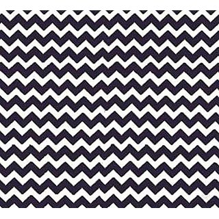 SheetWorld Fitted Pack N Play Sheet - Navy Chevron Zigzag - Made In USA