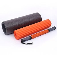 Liveup SPORTS 3-In-1 Foam Roller 6 Inch X 18 Inch Massage Stick + 2 Muscle Foam Rollers In One Product For Yoga Or Pilat