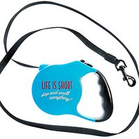 Punchline Pet Funny Retractable Dog Leash (Life Is Short, Stop And Smell Everything)