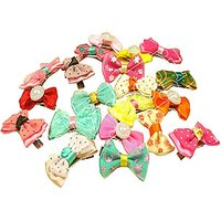 Blyyasgi® Cute Pet Dog Pups Hair Head Flower Hairpin Clip Hair Bow For Small Puppy (20 Pieces)