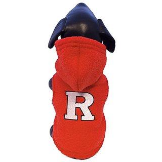 NCAA Rutgers Scarlet Knights Polar Fleece Hooded Dog Jacket, X-Small