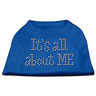Mirage Pet Products 20-Inch Its All About Me Rhinestone Print Shirt for Pets, 3X-Large, Blue