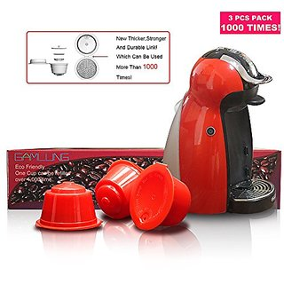 Gamlung Refillable Nescaf Dolce Gusto Capsule pack of 3 USE 1000TIMES