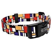 Dutch Dog Amsterdam Eco Friendly Mondrian Dog Collar, 20-25-Inch, Large