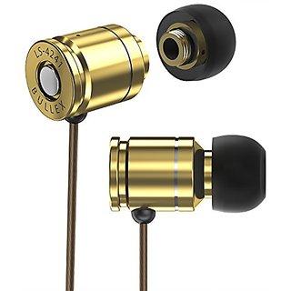 Sentey BULLEX GOLD Earbuds Earphones In Ear Headphones Headset In-Line Microphone Stereo Bass for travel running Men Kid