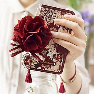 iPhone 6 Plus/6s Plus Case, Luxury GEM Series 3D Bling Wallet Leather Purse Flip Folio Book Style Cover Case Glitter Pea