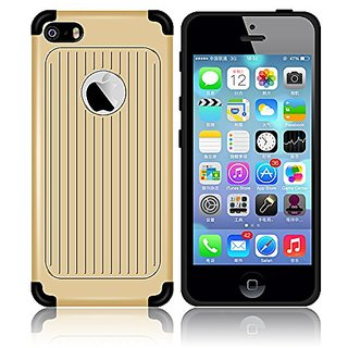 iPhone 5S case , Guoer (Stripe Series) Anti-Shock Bump Proof Drop Protection Protective Armor Case Double-Layer Hybrid D