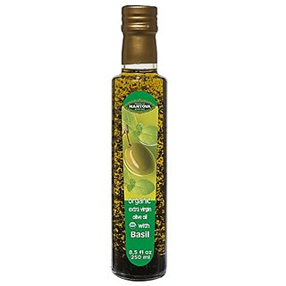 Mantova Basil Organic Extra Virgin Olive Oil, 8.5-Ounce Bottles (Pack of 3)