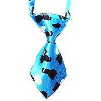 Animal Neck Ties (Dog, Cat, Puppy, Kitten, Reptile, Ferret, Rabbit, Rodent, Bird) Mini Size, Holidays, Occasions, Blue B
