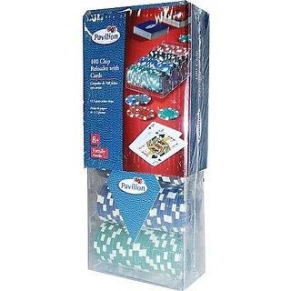 Pavilion Poker Chip Game - 100 CHIPS RELOADER WITH 2 DECKS OF CARDS - 11.5 GRAMS PER POKER CHIP