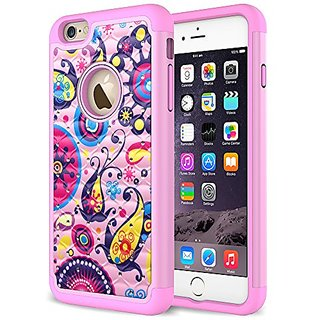 iPhone 5S Case, Eflistone(TM) iPhone 5S / 5 Beautiful Flower Pattern Design Slim Fit Cover with Soft TPU Hybrid Shockpro