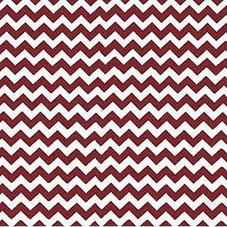SheetWorld C-W104-FD C-W104-FD Crib / Toddler Sheet - Burgundy Chevron Zigzag - Made In USA