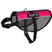 Dogline MaxAire Multi-Purpose Mesh Vest For Dogs And 2 Removable Therapy Dog Patches, Small, Pink