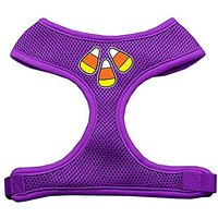 Mirage Pet Products Candy Corn Design Soft Mesh Dog Harnesses, X-Large, Purple