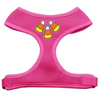 Mirage Pet Products Candy Corn Design Soft Mesh Dog Harnesses, Small, Pink