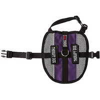 Dogline MaxAire Multi-Purpose Mesh Vest For Dogs And 2 Removable Therapy Dog Patches, Small, Purple