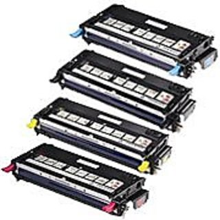 Combo Pack Dell Laser Printer 3130cn Toner Cartridge - 1 of B, C, M, Y (High Yield, 9K) Remanufactured