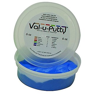 Fabrication Enterprises 10-3934 Val-U-Putty Exercise Putty, Blueberry(Firm), 6 oz.