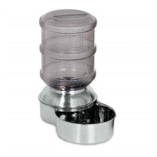 Petmate Stainless Steel Replendish Waterer Small 1 Gallon