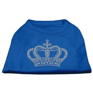 Mirage Pet Products Rhinestone Crown Shirt, Medium, Blue