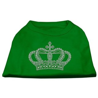Mirage Pet Products Rhinestone Crown Shirt, Large, Emerald Green