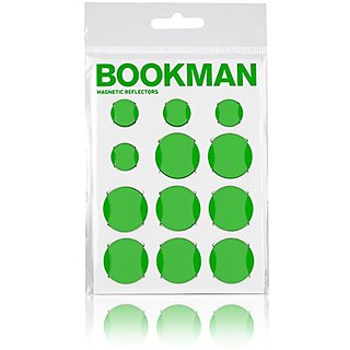 Bookman Magnetic Reflectors for Bicycles (Steel Frames) (Green)