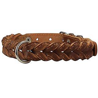 Genuine Leather Braided Dog Collar 17