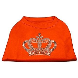 Mirage Pet Products Rhinestone Crown Shirt, X-Large, Orange