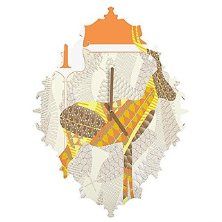 DENY Designs Jennifer Hill Mister Impala Baroque Clock, Small