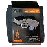 The Sharper Image On The Go 5-Piece Pet Travel Bowl Set