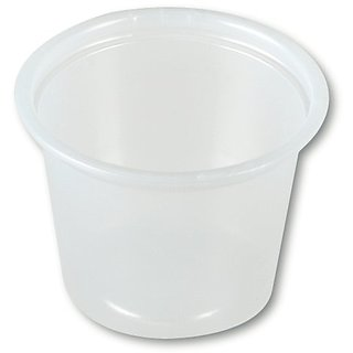Solo P100-0100 1 oz Translucent Polystyrene Souffle Portion Cup (20 Packs of 250)