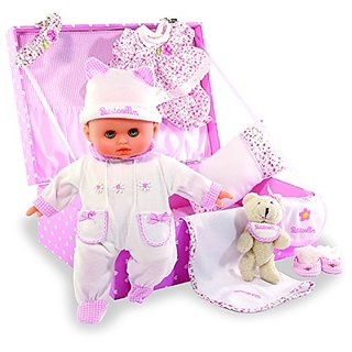 Vilac Petitcollin Bebe Mon Bebe Adore Doll Set
