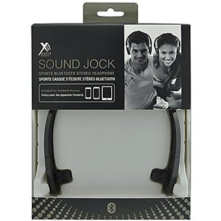 Xit AXTBTHSJBK Audio Sound Jock Sports Bluetooth Stereo Headphone, Black