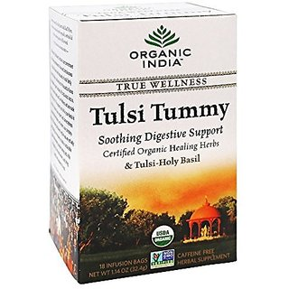 Organic India - True Wellness Tusli Tummy Tea - 18 Tea Bags