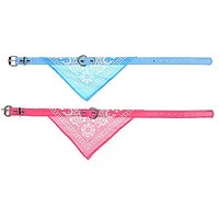 Kloud City Light Blue And Hot Pink Adjustable Pet Dog Cat Collars Neck Strap Band / Traingle Scarf / Neckerchief