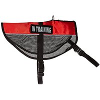 Dogline MaxAire Multi-Purpose Mesh Vest For Dogs And 2 Removable In Training Patches, Large, Red