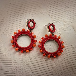 Enesco Boho Ear Pers bd Circ Drop