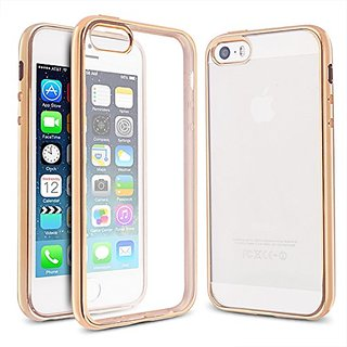 Arbalest iPhone 5 5S SE Case, Ultra Slim Crystal Clear Plating Shiny Bumper Soft TPU Silicone Cover Skin Perfect Fit for