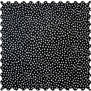 SheetWorld Black Fun Dots Fabric - By The Yard