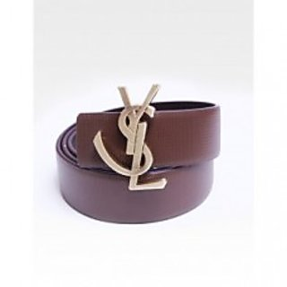 YSL - BROWN AND BLACK SNAKE LEATHER REVERSIBLE BELT