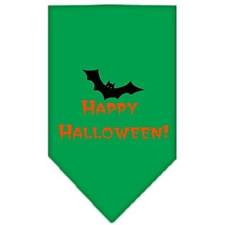 Mirage Pet Products Happy Halloween Screen Print Bandana for Pets, Small, Emerald Green