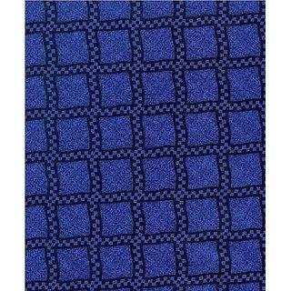SheetWorld c-2555330-SET-w32 c-2555330-SET-w32 Crib / Toddler Sheet - Navy & Royal Wavy Check - Made In USA