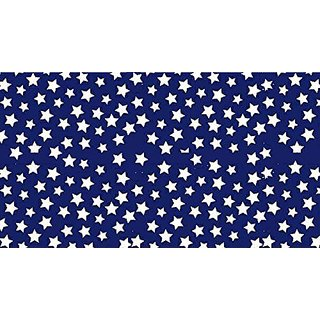 SheetWorld Crib / Toddler Sheet - Primary Stars White On Navy Woven - Made In USA