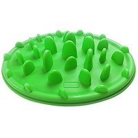 PAPOO Silicone Jungle Anti Slip Anti Choke Slow Food Pet Bowl For Dogs And Cats Tableware Raised Bowl (Green Food Pet Bo