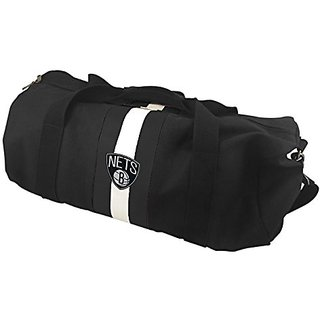 NBA Brooklyn Nets Black Rugby Duffel Bag
