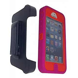 iPhone 5S case, OKASE (TM) iPhone 5 / 5S Durable Protective Dual Layer Swivel Belt clip Holster Heavy Duty Shockproof /