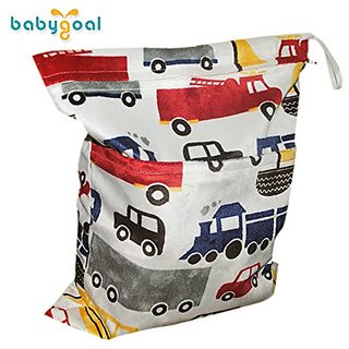 Babygoal Baby Waterproof Washable Reusable Wet And Dry Cloth Diaper Bag L24