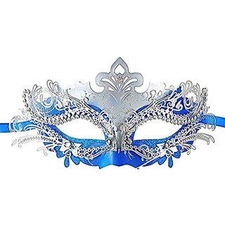 Masquerade Mask Shiny Metal Rhinestone Venetian Pretty Party Evening Prom Mask