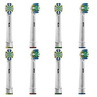 8-pack Generic Oral-B Floss Action Replacement Toothbrush Heads, Refills Braun Oral B Vitality Precision Clean, Dual Cle